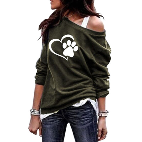 Off-shoulder Sweatshirt - Apparel - Sweatshirts For Dog Lovers - Best Gifts For Dog Lovers
