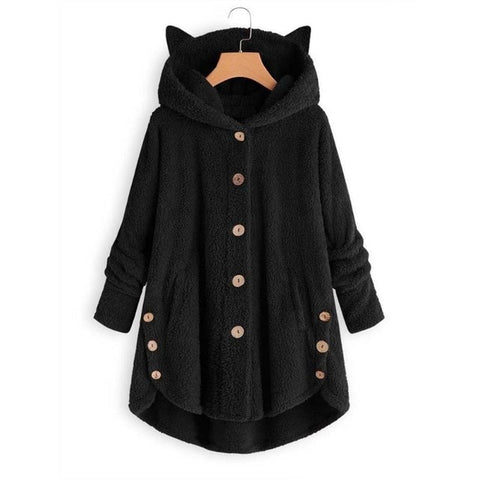 Winter Warm Jacket Loose Long Hoodie