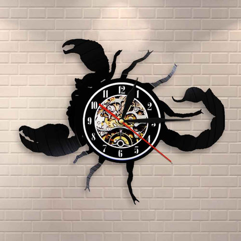 Scorpio Zodiac Wall Clock Astrology Vinyl Wall Clock Home Decor Scorpio Vintage Wall Clock