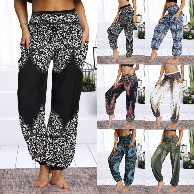 Loose And Long Stretch Yoga Pants Apparel Hippie Harem Pants Hip Azbetter