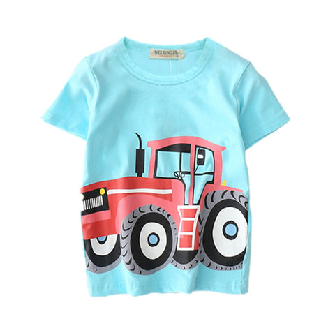 Image of Farmer Tractor Baby Boy T Shirts For Children Clothing