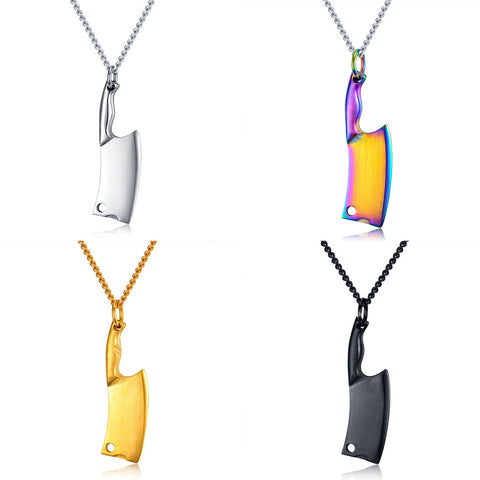 Chef Kitchen Knife Pendants For Men Jewelry Gift Necklaces