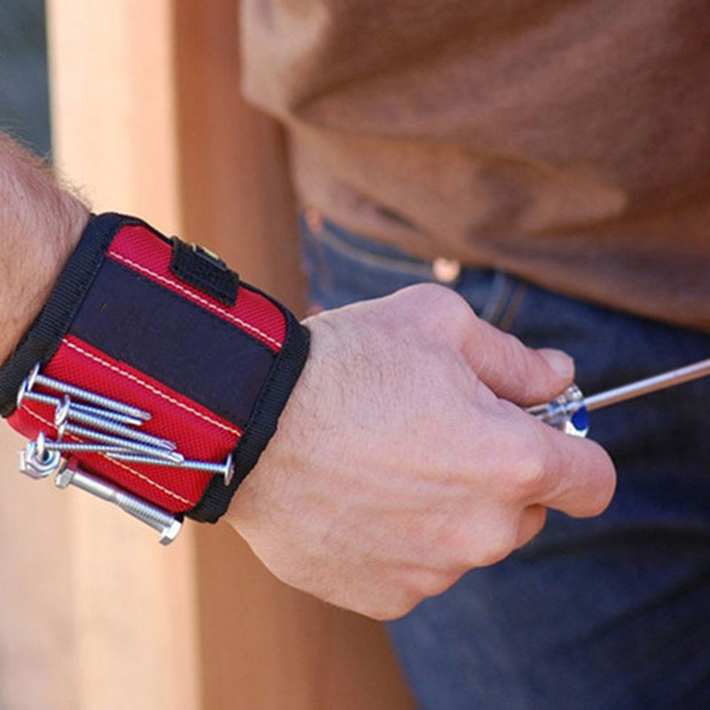 Polyester Magnetic Wristband Pocket Tool For Carpenter