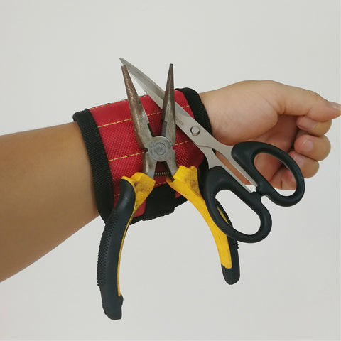 Image of Polyester Magnetic Wristband Pocket Tool For Carpenter