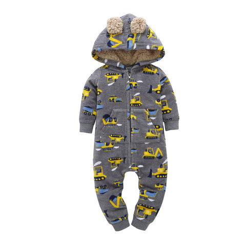 Image of Heavy Equipment Operator Baby Rompers Baby Boy Girl Cute