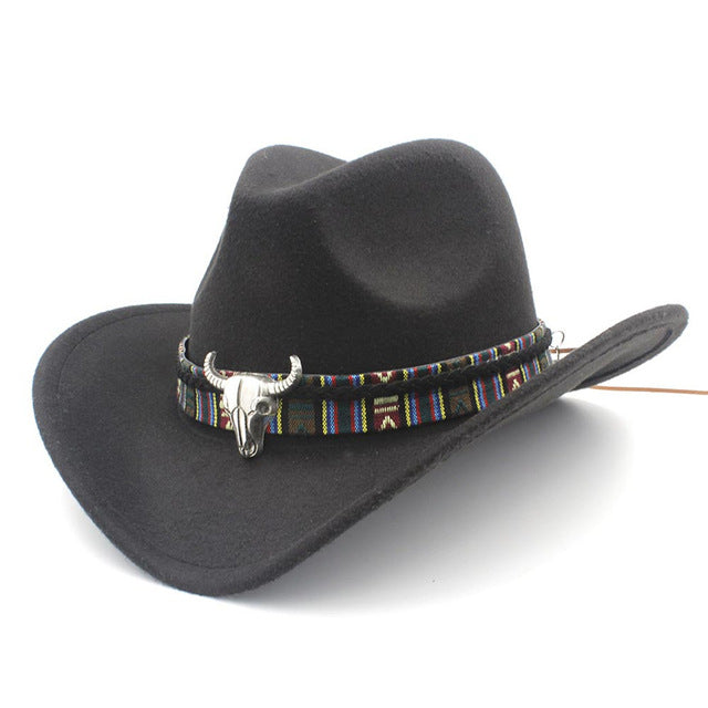 65e3ab9c122 Retro Wool Unisex Hollow Western Cowboy Hat - Sale Off 50%. Tap to expand