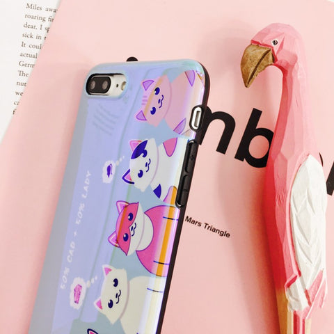 Image of Cute Cartoon Cats Claws Blu-ray Phone Case
