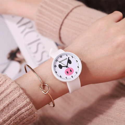 Image of Lovely Piggy Women Wristwatches Five color available