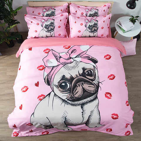 Image of 3D Doggos Bedding Set Bedroom Set Bed Sheets Duvet Cover