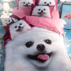 3D Doggos Bedding Set Bedroom Set Bed Sheets Duvet Cover