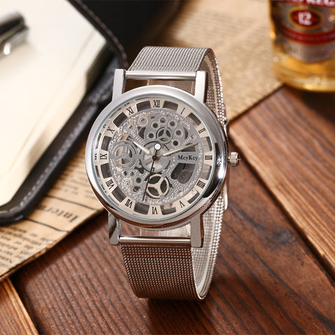 Image of Stainless Steel Non-Mechanical Hollowed Out Wrist Watch