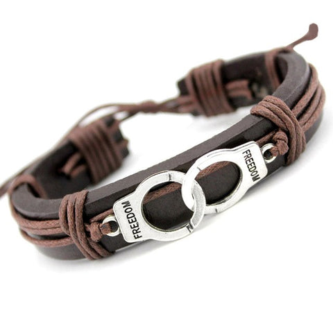 Image of Fashion Leather Wrap Bracelet - Sale Off 50%