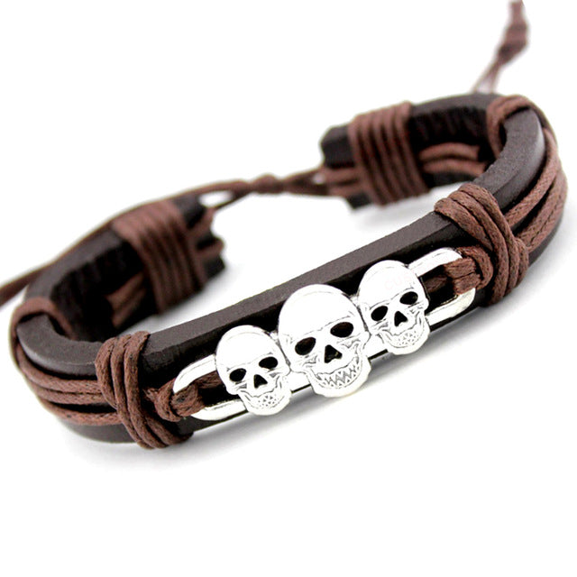 Fashion Leather Wrap Bracelet - Sale Off 50%