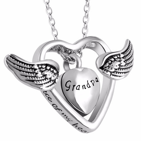 Angel Wings Heart Necklace - Jewelry - Gift Ideas For Women - Locket Necklace - Gifts For Family Members