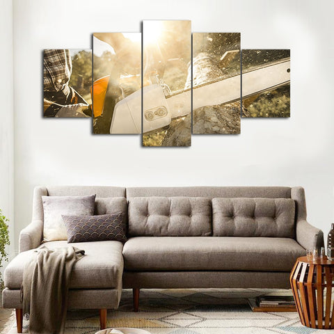 Woodcutter Canvas picture Painting