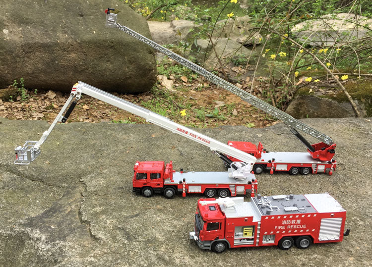 Alloy engineering vehicles high simulation Fire truck