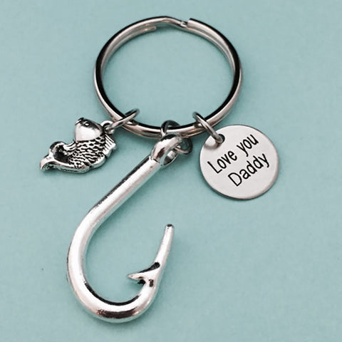 Image of Awesome Gift For Dad - Keychain - Gifts For Dad Who Likes Fishing - Gifts For Dad - Keyring