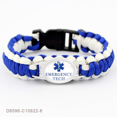 Image of Cool Paracord Bracelet for Nurse - Accessories - Best Gifts For Nurses - RN Graduation Gifts - RN gift ideas