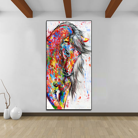 Beautiful Horse Abstract Canvas - Home Decor - Best Gifts For Farmers - Horse Canvas