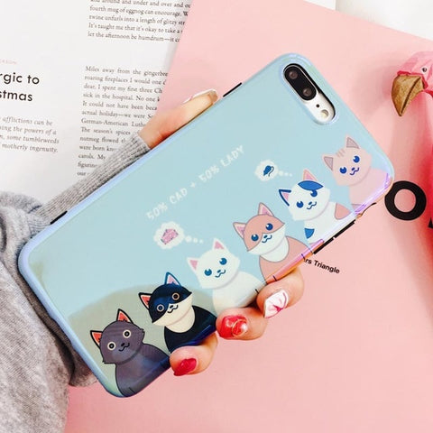 Cute Cartoon Cats Claws Blu-ray Phone Case