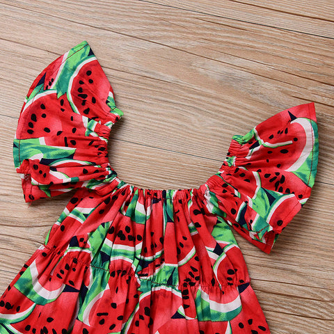 Juicy Watermelon Romper - Baby Apparel - Newborn Baby Summer Clothes - Cute Baby Girl Clothes With Headband