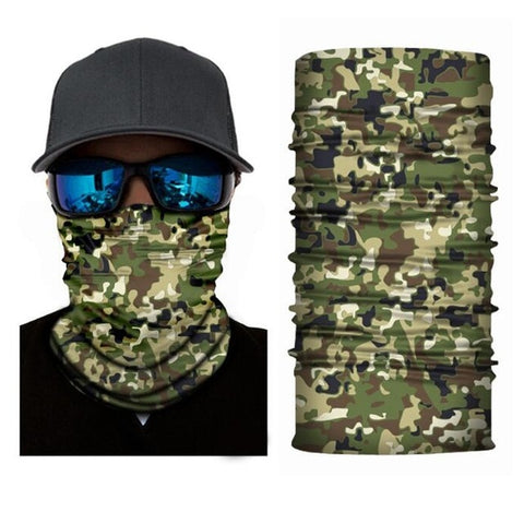Outdoor Riding Windproof Camouflag Face Scarf