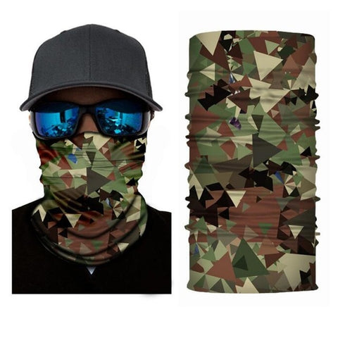 Image of Outdoor Riding Windproof Camouflag Face Scarf