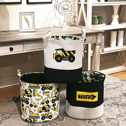 Cute Heavy Equipment Foldable Large Laundry Basket