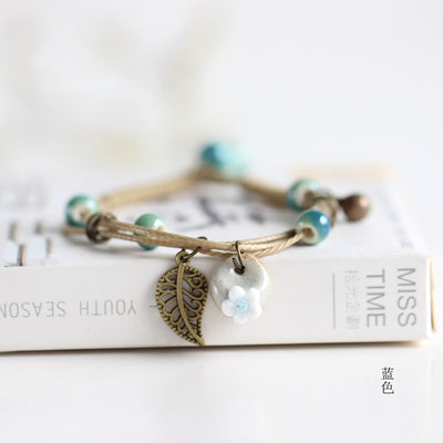 Image of Lovely Boho Ceramic Bracelets Vintage Style