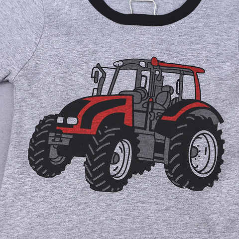 Image of Baby Cartoon Tractor Short Sleeve T-shirt
