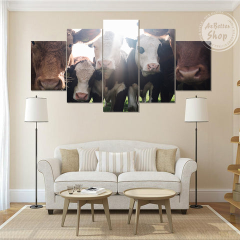 Image of Farmer Cow Beef Cattle Canvas