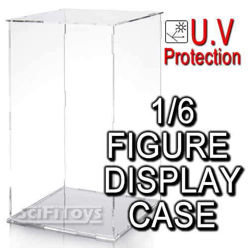 1:6 Action Figure U.V Protection Clear display case for Hottoys  Sideshow Enterbay Barbie