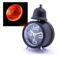 Single Bell Alarm Clock, Black