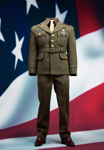(PREORDER) 1:6 Captain America - Golden Age Army Uniform Male Custom Figure  Set (Outfit Only)