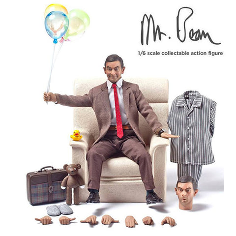 1:6 Officialy Licensed Mr BEAN Figure (2 Headsculpts + 2 Outfits) ZcWorld