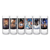 Star Wars Movie Posters - 325ml High Ball Glasses Collector Set Pack of 6