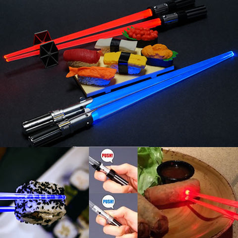 FATHER AND SON SET Star Wars - Light Up Lightsaber Chopsticks Darth Vader and Luke Skywalker Kotobukiya