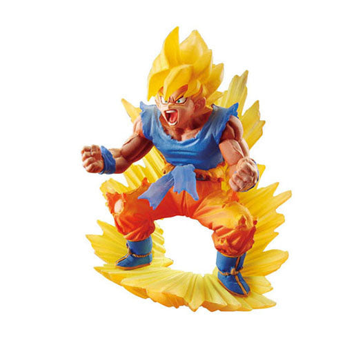Anime : Dragon Ball Z - Super Saiyan Son Goku Dora Capsule Dracap Memorial Statue Series 2 Megahouse