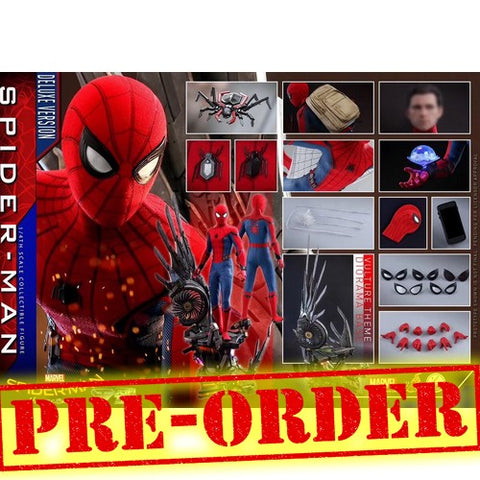 (PREORDER) 1:4 Spider-Man : Homecoming - Spider-Man Tom Holland Deluxe Figure QS015 Hot Toys
