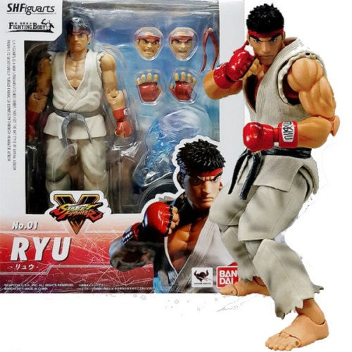 1:12 Street Fighter V 5 - RYU ORIGINAL S.H Figuarts Figure Bandai Tamashii Nations (LAST CHANCE)