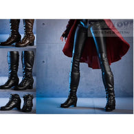 1:6 Female Custom Parts - Wanda Scarlet Witch High Heel Long Boots with Removable Gaiters Black / Brown