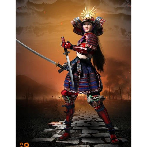 1:6 The Female Samurai - RIN Red/Black Armour Collectible Custom Figure Set