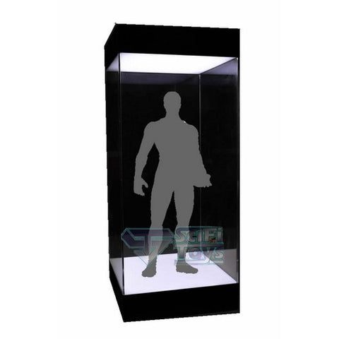 1:6 Figure Clear Acrylic Display Case / Box with USB Powered LEDs for Hot Toys