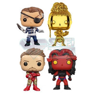 Marvel Bundle - Iron Man, Nick Fury NYCC 2019, Shuri NYCC 2018, She-Hulk SDCC 2017 Pop Vinyl Funko Exclusive