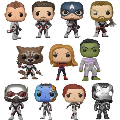 Avengers 4 : Endgame - Avengers Team Suit Hulk Tony Captain America Thor Black Widow AntMan Nebula Captain Marvel War Machine Hawkeye vs Thanos Pop Vinyl Funko Single / Bundle Set of 11