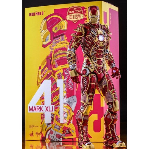 1:6 Iron Man 3 - BONES Mark XLI 41 Retro Armour Ver. Figure MMS412 Hot Toys 2017 Toy Fair Exclusive (LAST CHANCE)