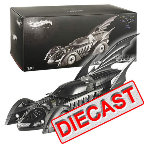 1:18 Batman : Batman Forever - Limited Edition 1995 Batmobile Diecast Hot Wheels Elite