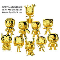 Marvel Studios The First 10 Years - Gold Chrome Bundle (Set of 10) Pop Vinyl Funko Exclusive