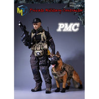 1:6 Male Private Military Contractor Custom Outfit Set with K9 Tactical Guard MCCToys