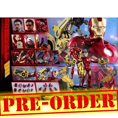 (PREORDER) 1:6 Iron Man 2 - Iron Man Mark IV 4 Diecast Figure MMS461D21 Standard / MMS462D22 with Suit up Gantry Hot Toys